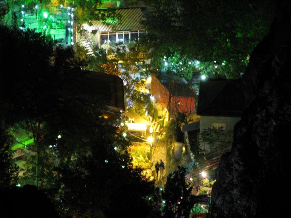 Darband Mountain at night