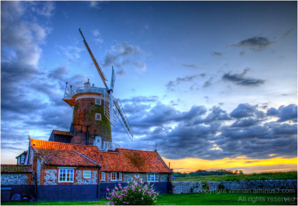 Cley Windmill at sunset