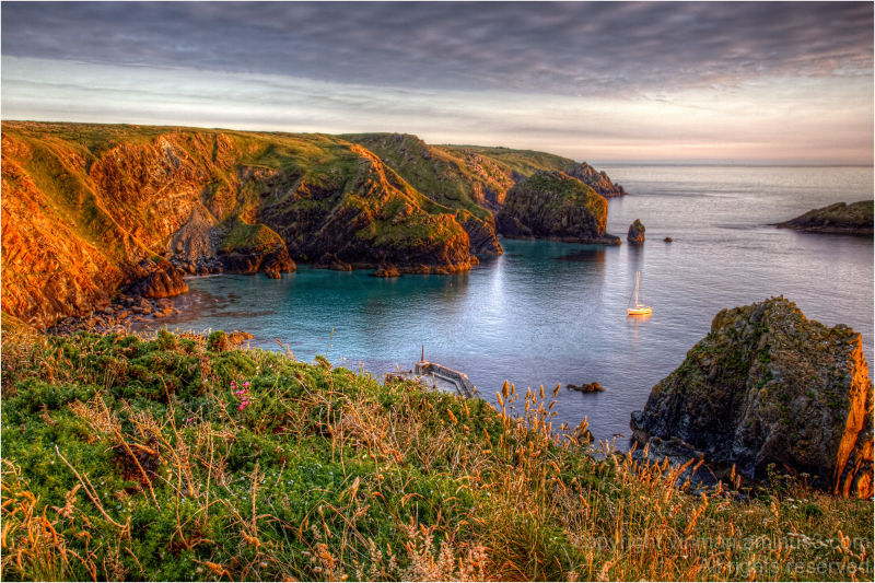 Mullion Cove at Sunset