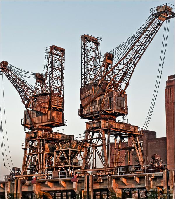 Cranes at Battersea Power Station