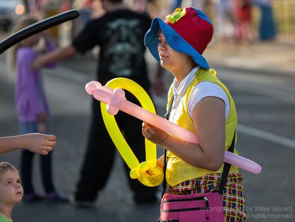 Balloon seller at the Clacton Carnival 2012