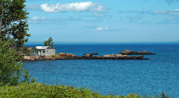 Old Shed on Lake Superior