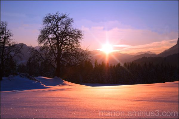 Sunset in Austria