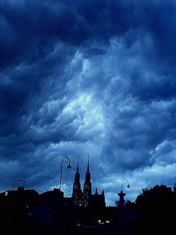 Storm over cathedra siedlce