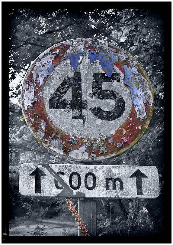 Panneau limitation vitesse (Dedicada a Juan Carlos