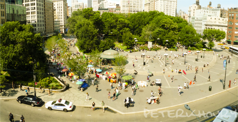 Union Square in the Summer