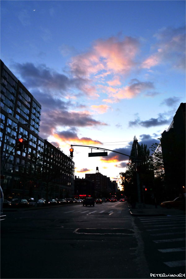 Sunset on Houston St