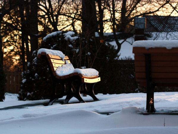 Un banc de neige.