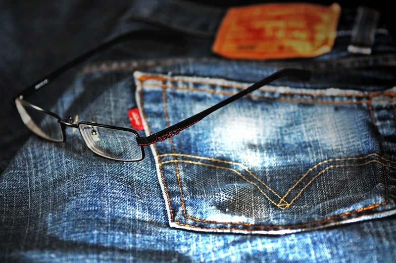 Levi's Jeans and Glasses