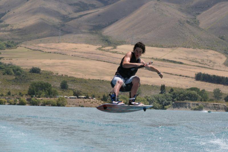 wakeboarding lake benmore