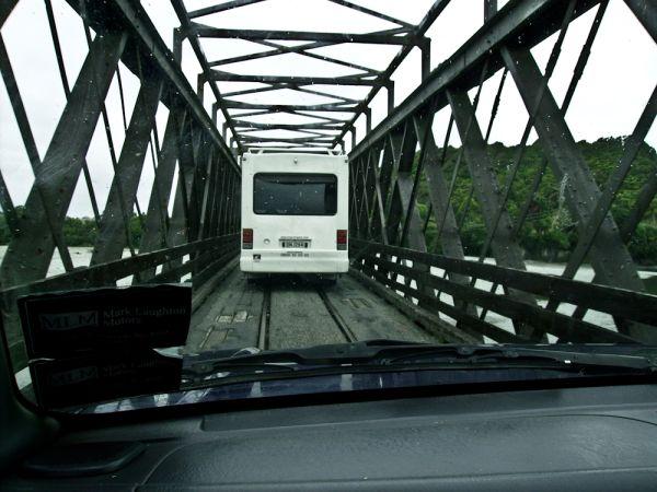 train and car bridge