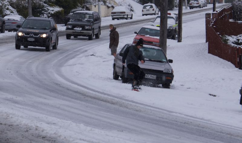 Snow day in dunedin nz