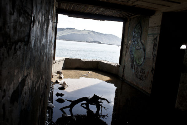 view from gun emplacement