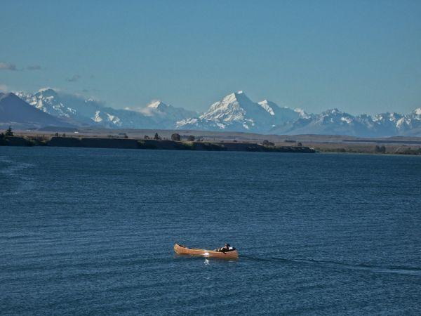 Boat on lake benmore