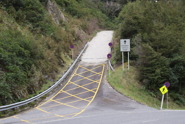 Run away ramp its all down hill from here