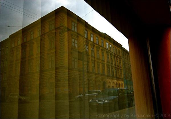 wien vienne reflet vitrine architecture viennoise