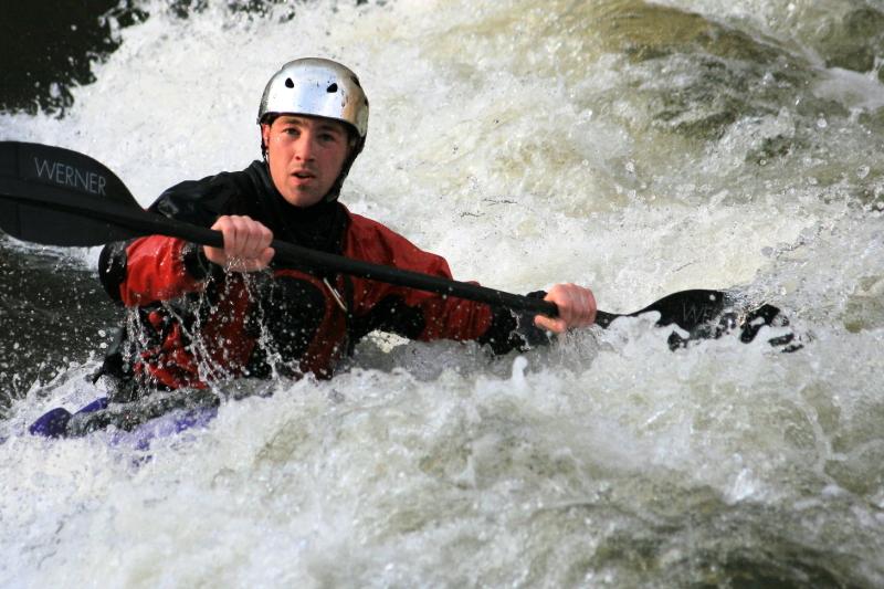 Whitewater kayaker