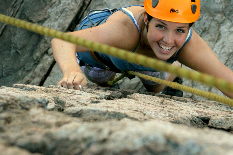 Rock Climber at Otter Point, Acadia National Park