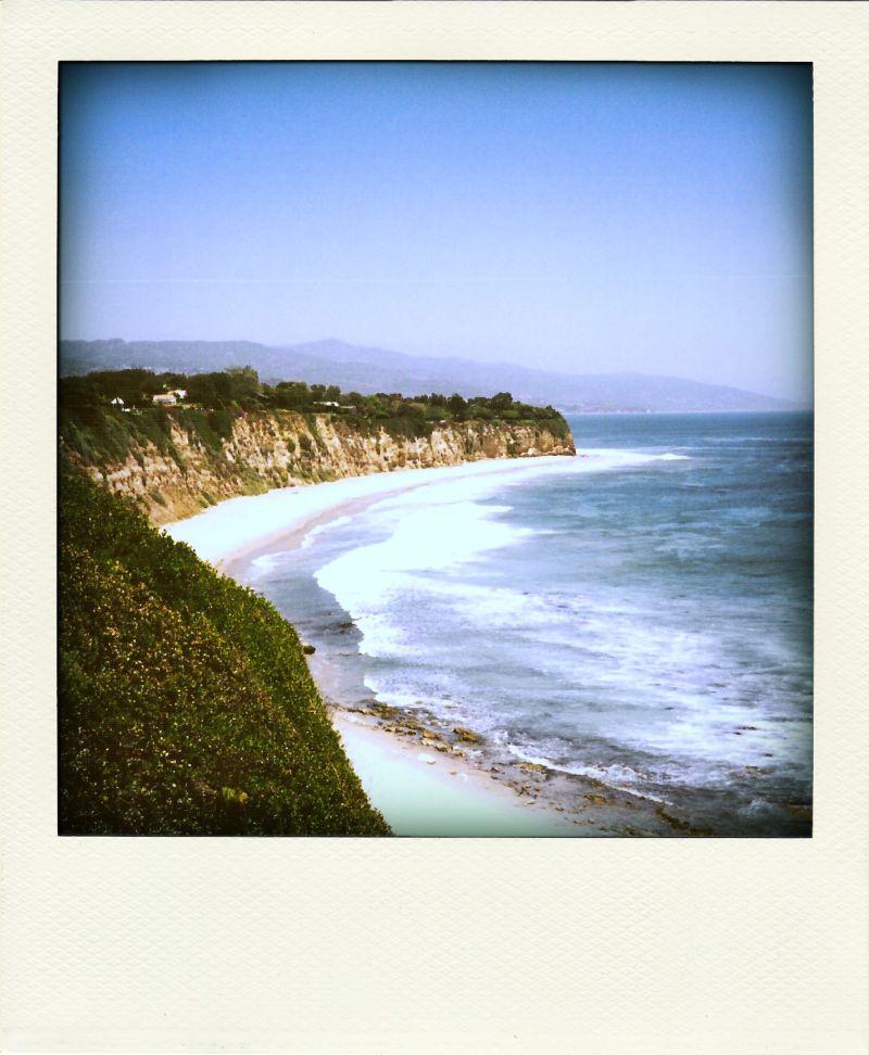 Poladroid: Point Dume Beach, Malibu, CA
