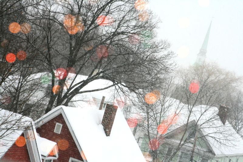 Everywhere I Look I See Christmas Lights.