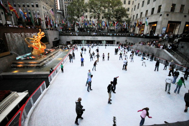 Ice Skating @ Rockefeller Center