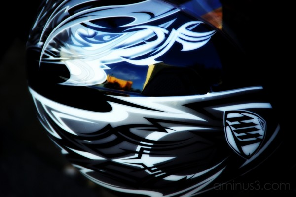 Helmet and reflections