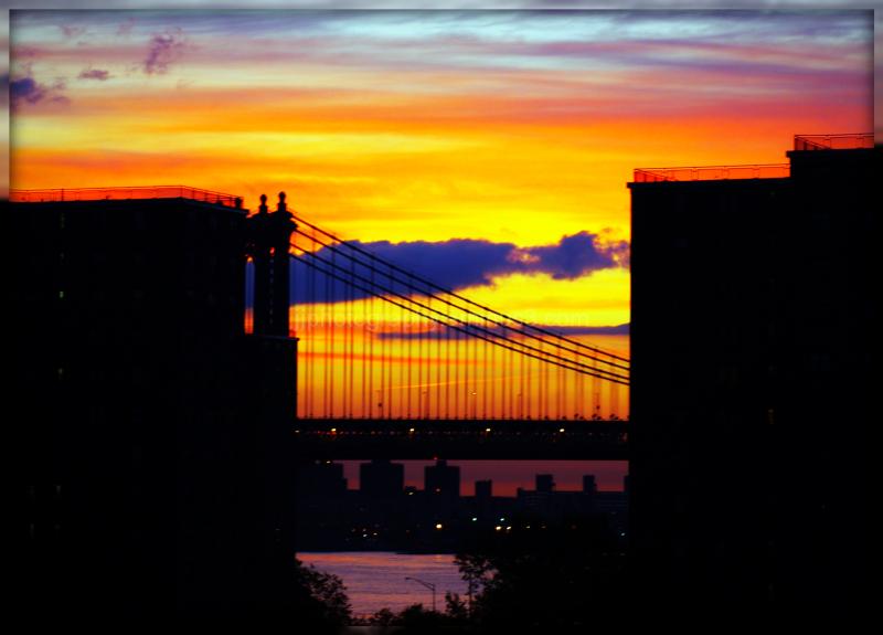 sunrise between the buildings