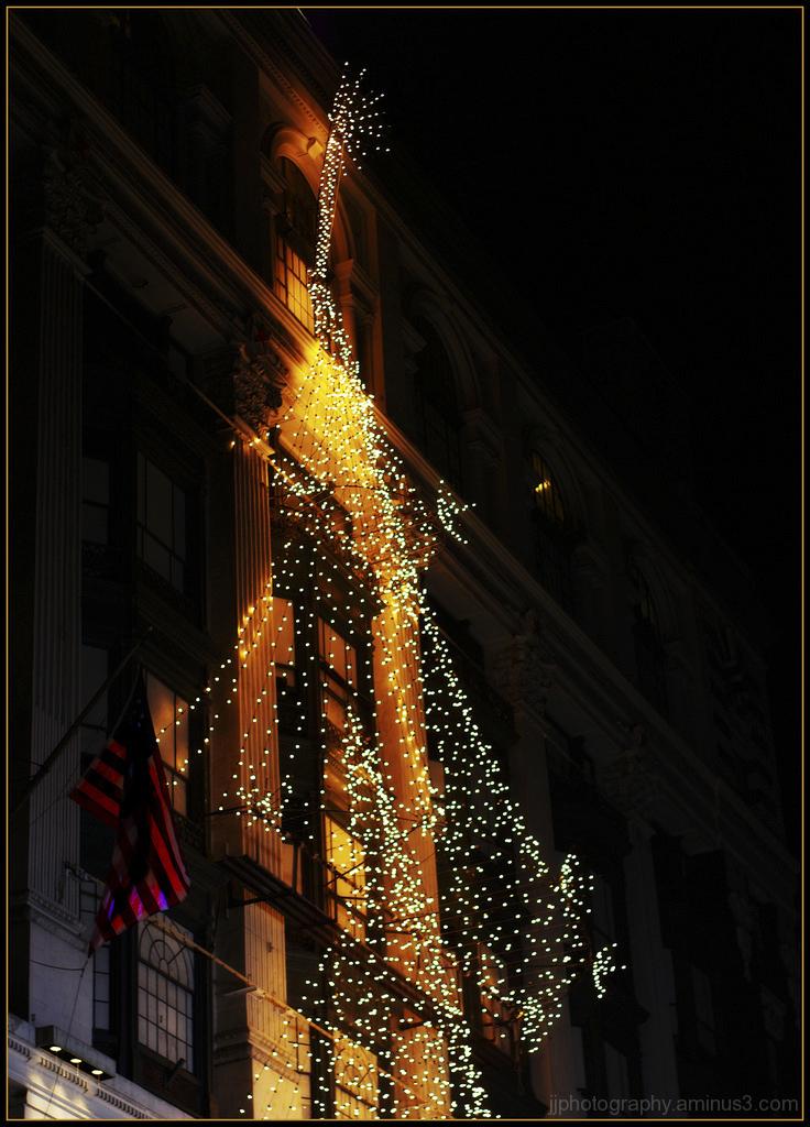 Holiday season  lights at Macys