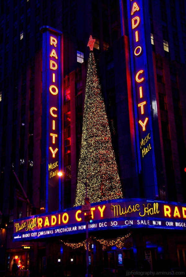 Tree and Radio City Music Hall
