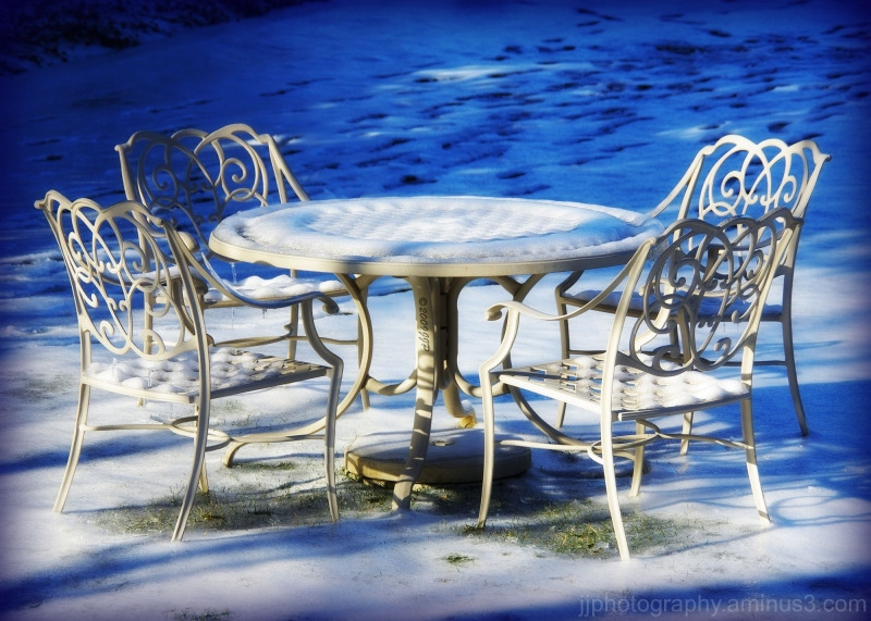 table for four in snow