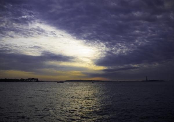 Sunset from battery park