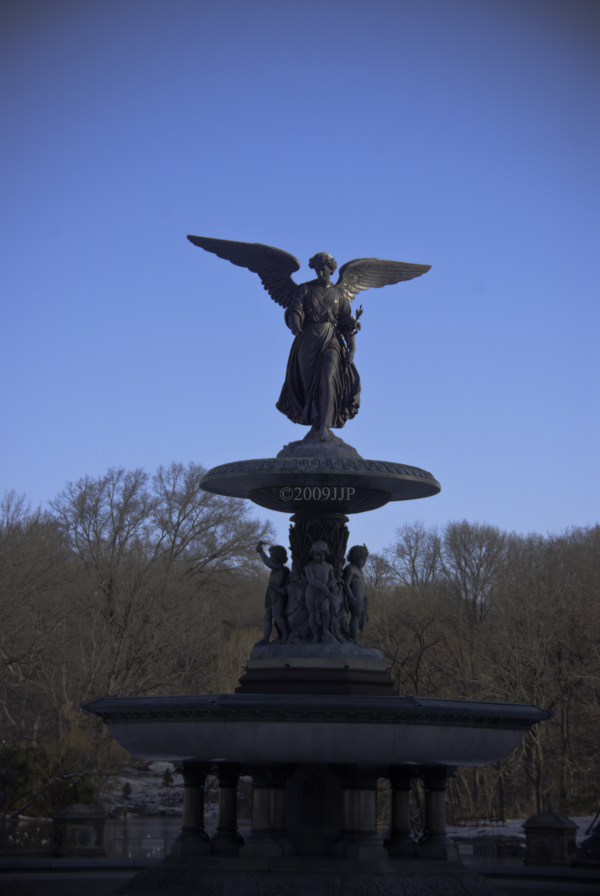 The statue at Bethesda Fountain