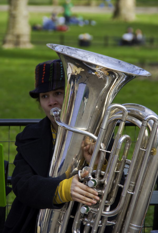 a busker in Central park