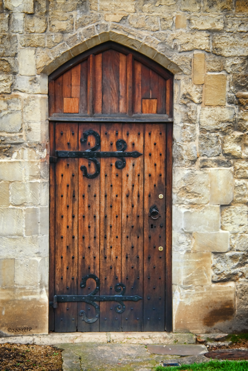 A old door on the cathedral