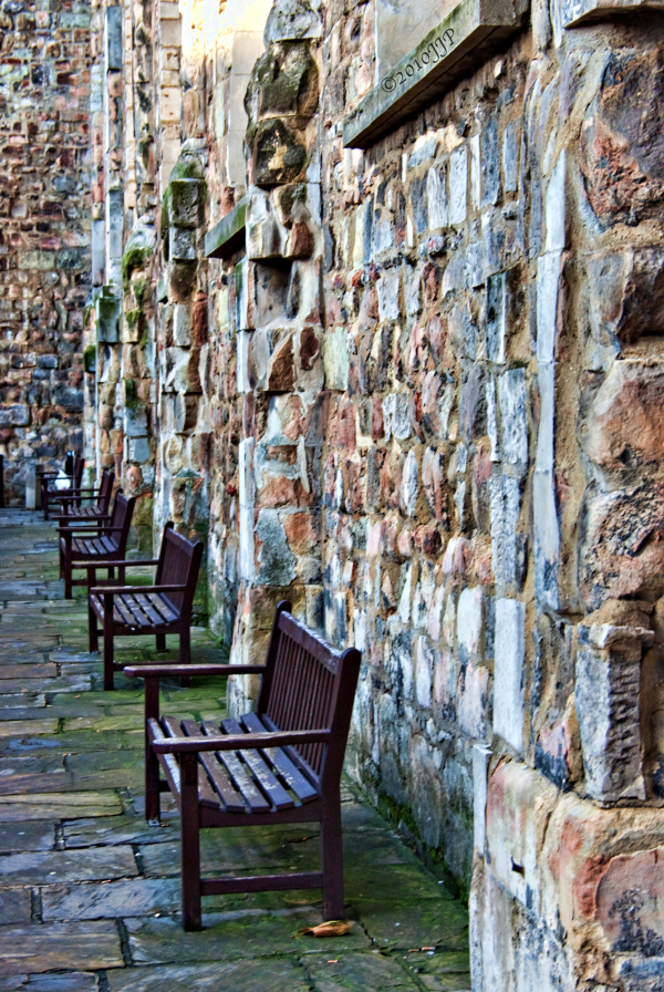 An old wall and Chairs