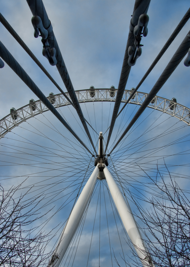 a close in shot of the Eye in London