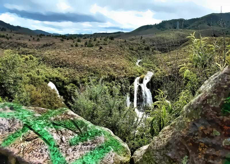 Waipunga falls over processed