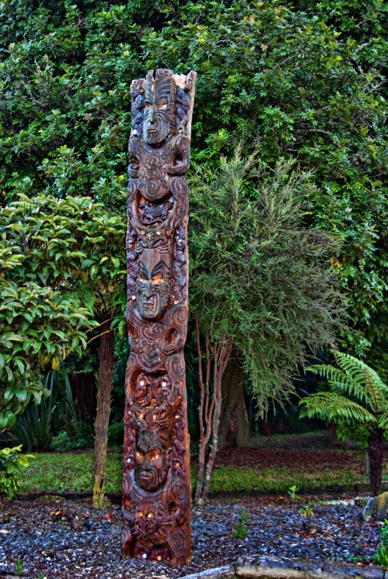 A Maori carved Totem