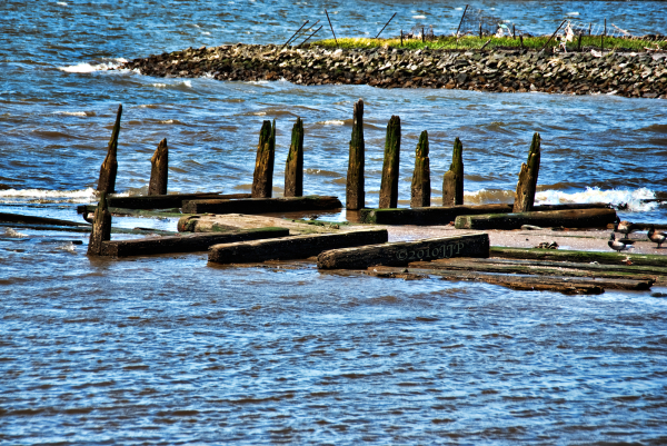 Whats left of a pier or something