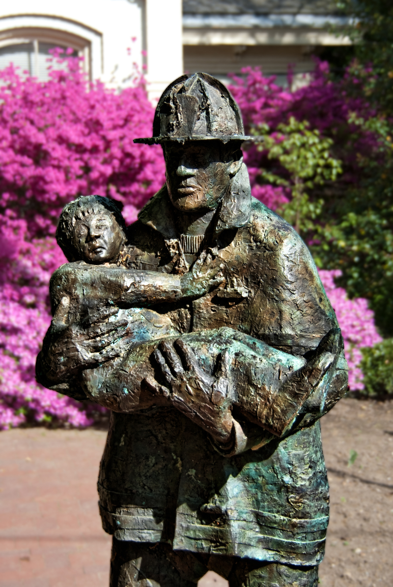 A statue in Honor of FF Joseph Mascali