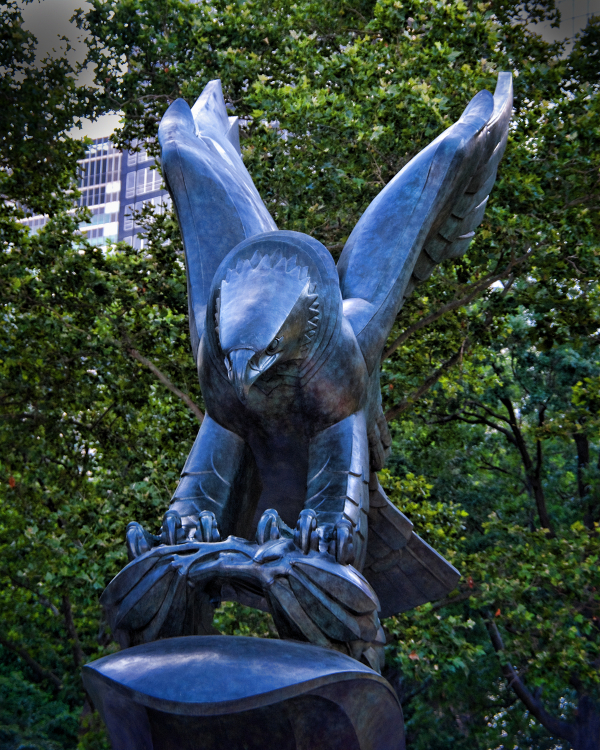 The Eagle statue at Battery Park