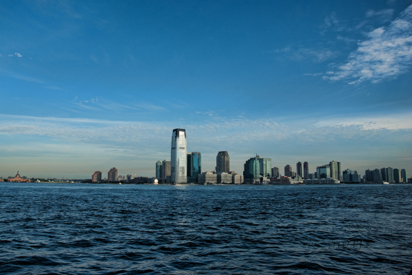 A view of Jersey City  from Battery Park