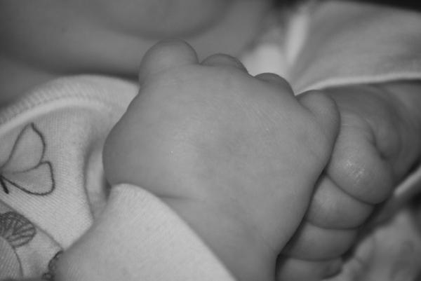 A babies hands