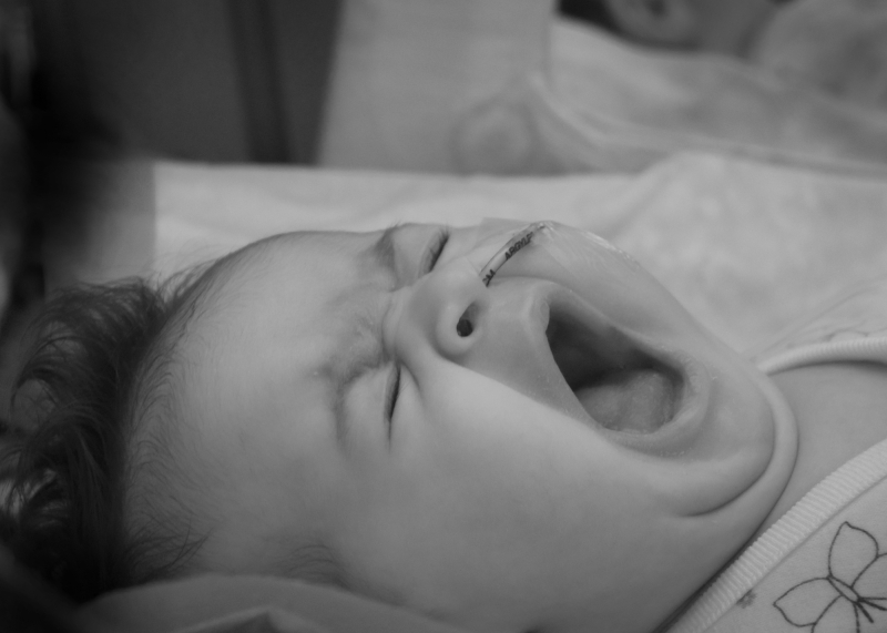 Baby Zoey Yawning