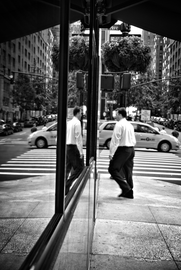 Reflections on  the street side