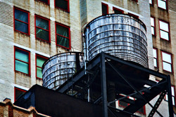 A water tank in NYC