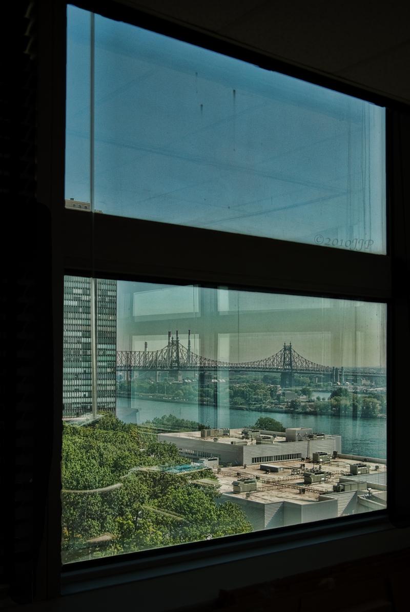 The 59th street bridge as seen from 10th floor