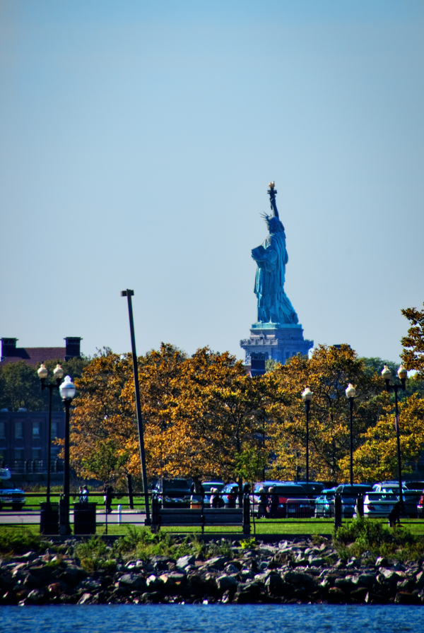 Statue of Liberty from Morris Canal Basin