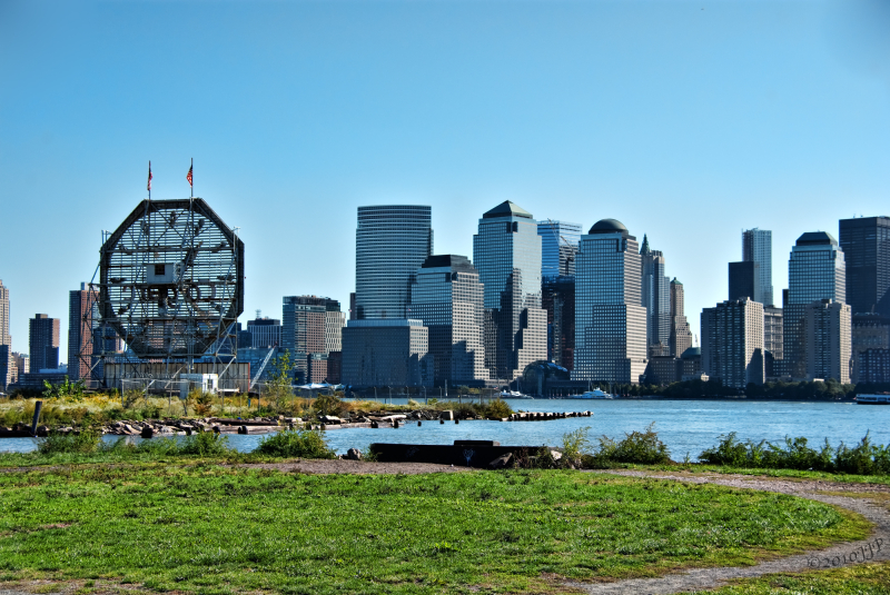 Looking across to Manhattan from Liberty State Par