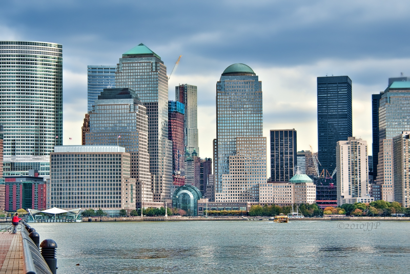 Looking from Jersey city to Manhattan
